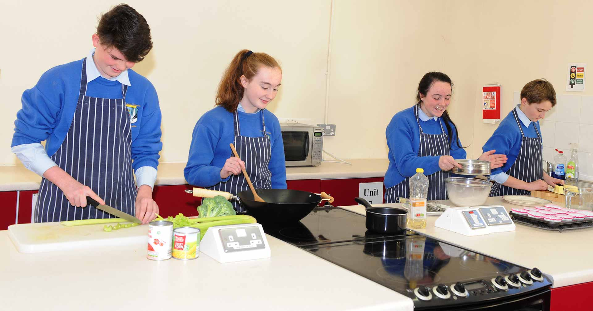 Colaiste Chiarain students coooking